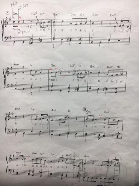 卒業生を送る会の伴奏のオーディション楽譜