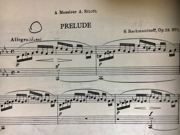 ラフマニノフプレリュード Op.23-7