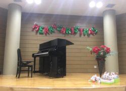ピアノ教室のクリスマス会 飾りつけ