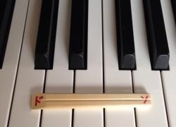 ドソの音程の幅に切った割り箸